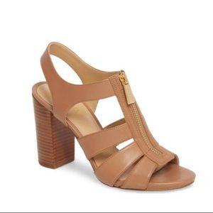 Michael Koors leather block heel sandal